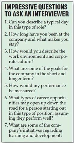 Impressive Questions To Ask An Interviewer : great for future reference!