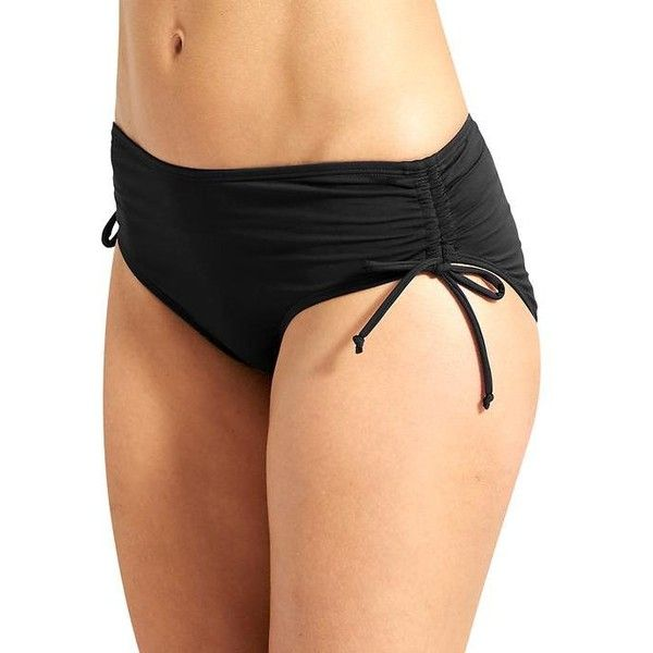 Athleta Women Full Scrunch Bottom ($49) ❤ liked on Polyvore featuring swimwear, bikinis, bikini bottoms, black, scrunch bikini bottoms, bikini bottom swimwear, ruched swimwear, shirred swimwear and ruched bottom bikini
