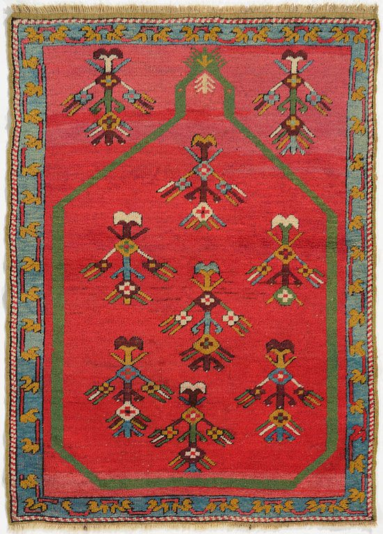 "KERSHEHIR RUG  Turkey c1900     1.30m x 0.95m    4' 3"" x 3' 1"" I Robert Stephenson handmade carpets"