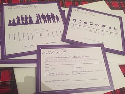 DIY Wedding competition Heather bride.  Purple wedding invitation inserts.  #DIYwedding #diyweddingideas #diyweddingstationery #diyweddinginviations #diyweddinginvites #lilacwedding #lilac
