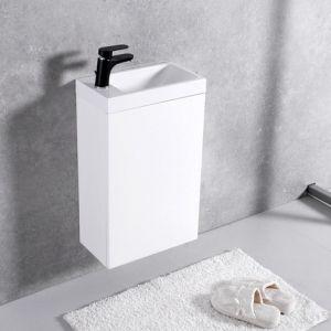 Мебель для ванной комнаты Шкафчик с умывальником FANCY MARBLE Java ШН-400 + Ida 400 (Белый)