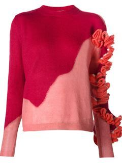 Delpozo Ruffle Detail Knit Sweater - The Webster - Farfetch.com