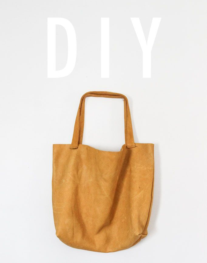 DIY Leather Tote