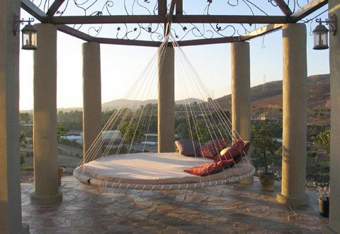 This is where I want to be...right now.: Outdoor Beds, Dreams Houses, Idea, Hanging Beds, Floating Beds, Hammocks Beds, Backyard, Places, Swings Beds