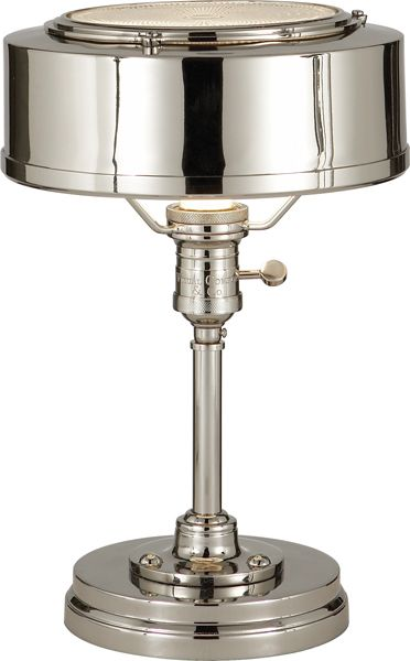 Limited Production Design Limited Stock: Classic Victorian Desk Lamp * Polished Nickel * H: 13 x 8 inches