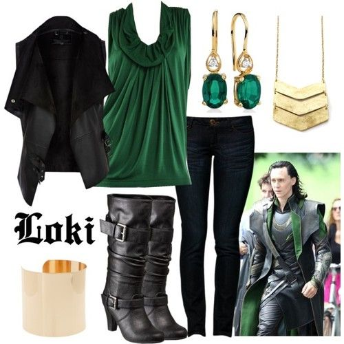 Ahahaha, that's awesome!  Except . . . I don't think I like it if it HAS to be a Loki outfit.  I like the outfit by itself but not so much as a girl version of Loki's outfit.  Converting guys' outfits into girls' outfits never satisfies me.