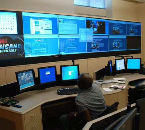 Manufacturing Operations  Consoles and DLP Video Wall-1