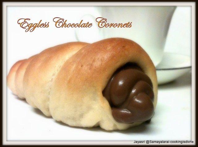 Eggless Chocolate Coronets   My Veg Fare