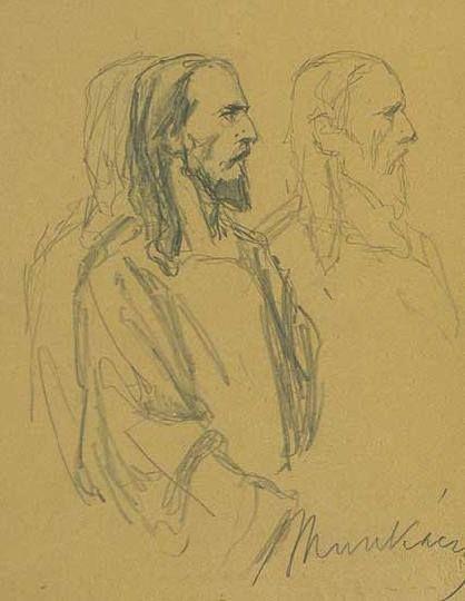 Munkácsy Mihály (1844-1900) - Vázlatok a Krisztus Pilátus előtt című festményhez