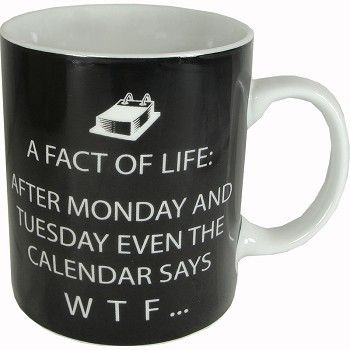 Facts of Life After Monday... Humorous Porcelain Mug