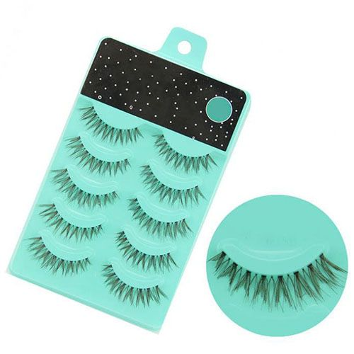 5 Pairs Coffee Long Soft False Eyelashes Extension Wedding Party Beauty Eye Makeup