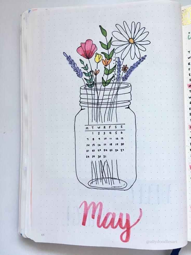 bullet journal page- Ich muss anfangen, monatliche Titelseiten zu machen