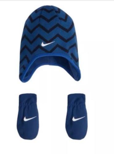 7f83bdf34a6 Hats 163224  New Nwt Baby Boy Nike Chevron Fleece Trapper Beanie Hat And  Mitten Set