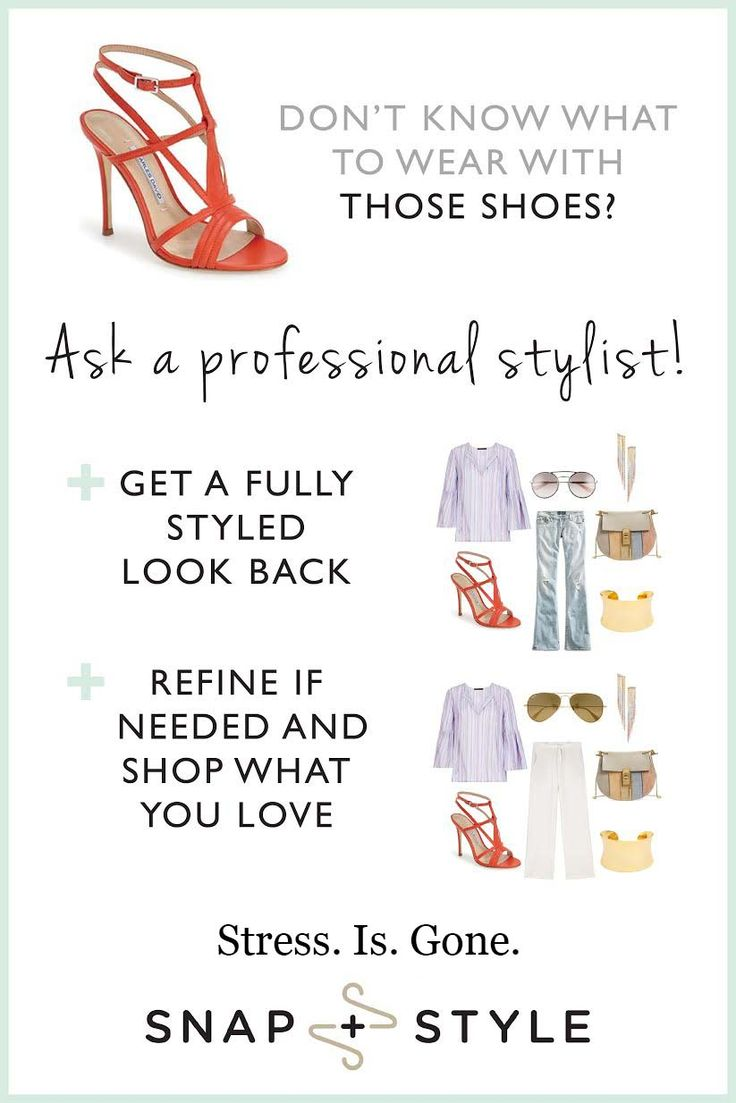 Three easy steps to getting styled 1.Ask what to wear – from scratch or with something in mind 2. Provide quick details and hit submit 3. Get your outfit back from a real stylist – just for you – and shop the look! snapandstyle.com