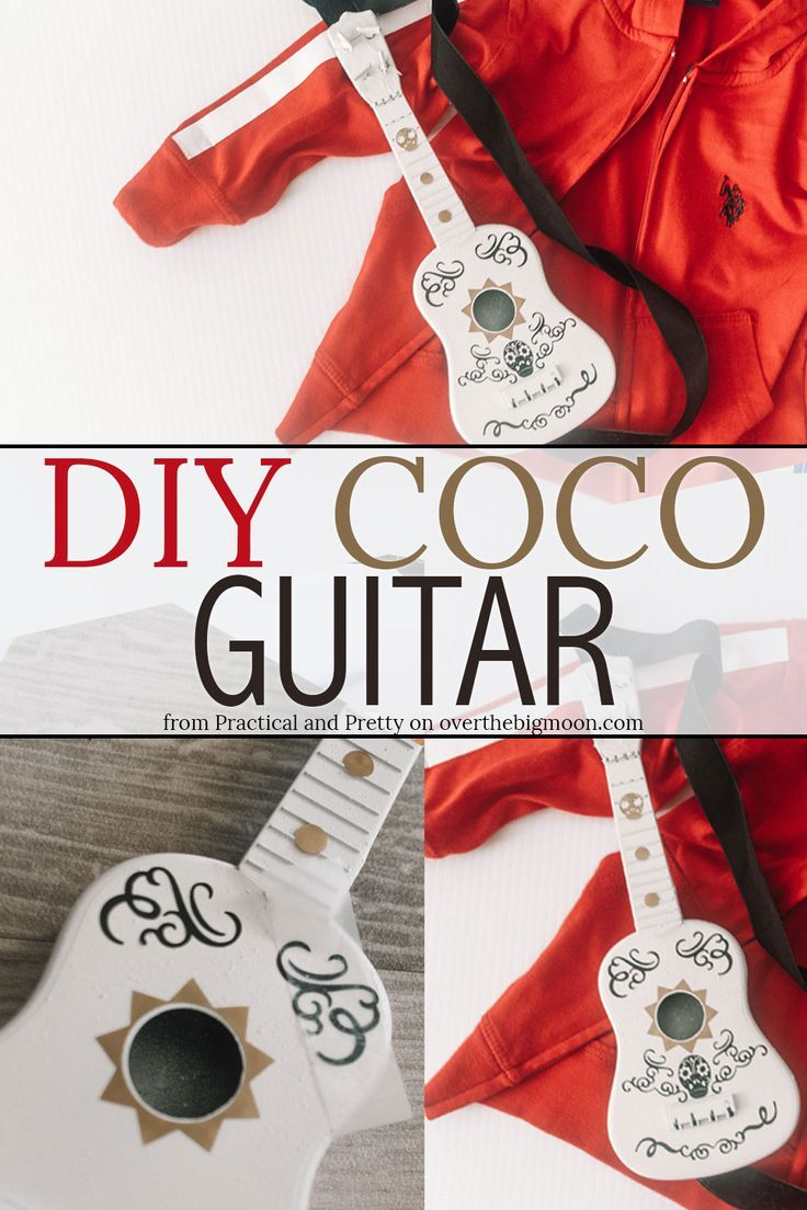 Coco Guitar Diy Avec Images Deguisement D Halloween Diy