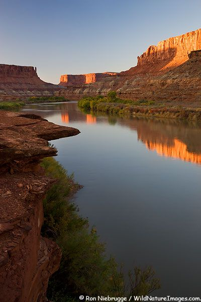 Green River, Labryinth area White Rim Trail, Canyonlands National Park near Moab; photo by Ron Niebrugge