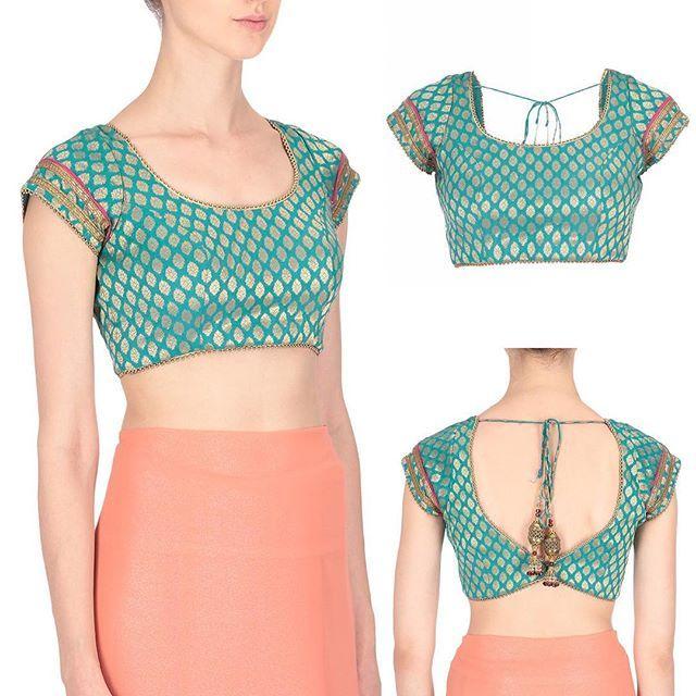 Brocade blouse #instagood #instadaily #runway #show #blouse #saree #lehanga #skirt #blushingcouturebyshafaligrover #design #festival #clothing #fashion #runway #couture #usa #uk #canada #india #uae #ootd #love