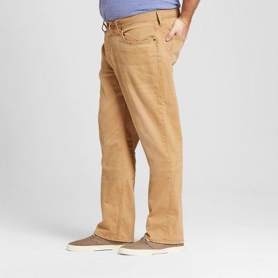 Men's Big & Tall Straight Fit Jeans - Mossimo Supply Co. Khaki 48x30, Beige