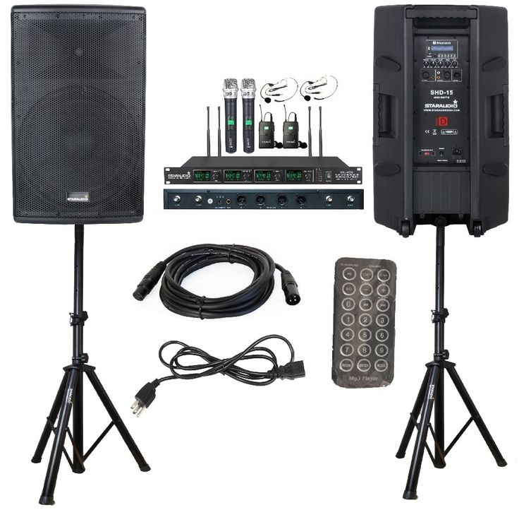 "698.24$  Buy here - http://alilus.shopchina.info/1/go.php?t=32809507700 - ""STARAUDIO 2Pcs Pro Class D Active PA 15"""" 4000W Active Powered DJ Speakers W/ 2 Stands 1 Cable 4CH Mic SHD-15 "" 698.24$ #aliexpress"
