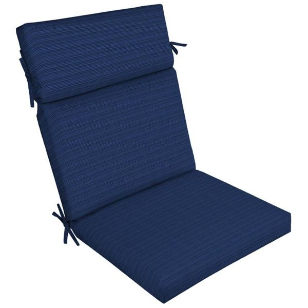 allen + roth Navy Woven High-Back Chair Cushion | Lowe's Canada