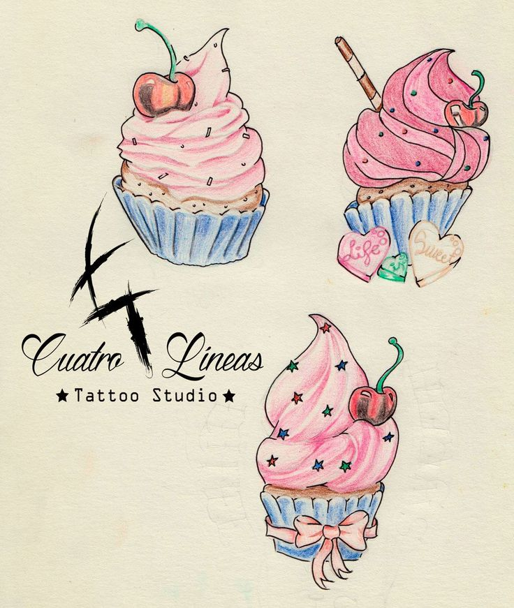 Diseño Cupcake lápiz y color   912593020 Estudio de tatuaje artístico http://www.cuatrolineastatuaje.es    Máxima higiene y profesionalidad Madrid, carabanchel Metro oporto - urgel     tags  tattoo tatuaje madrid carabanchel arte art tattoos tatuajes original tattooartist tattooart love smile amazing look colorful girl happy beautiful tattoogirl color blanco y negro, black and white