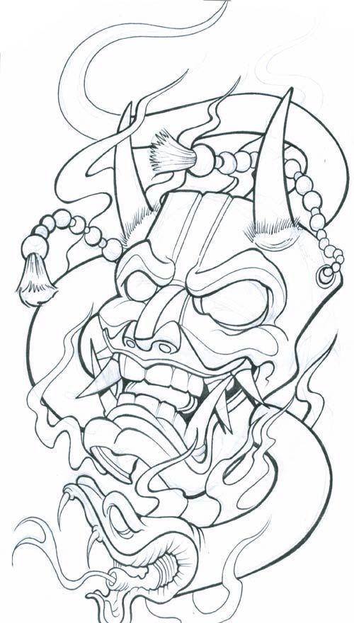 30d2f0563a53d Afbeeldingsresultaat voor japanese mask tattoo | Art | Mask tattoo ...