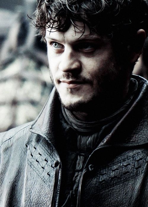"""Iwan Rheon as Ramsay """"Snow"""" Bolton in Game of Thrones  -you creepy as fuck in this show but i still love you bb boi"""