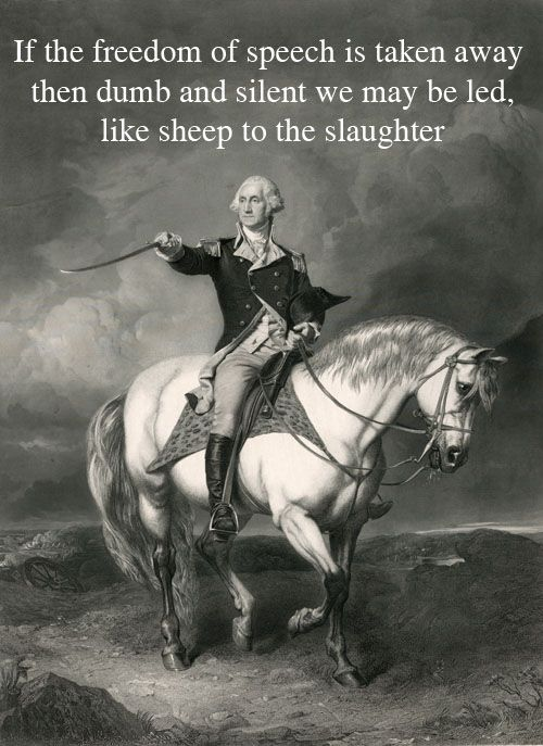 George Washington: Read The Next American Civil War Blog: The idiots in the Mainstream Media still do not understand that freedom of the press , freedom of speech, is only viable so long as the right to keep and bear arms is guaranteed by the Second Amendment. The job of the press is inextricably linked to the armed citizen. If the armed American goes, so does the independent, non-state-controlled press. Freedom of the press, freedom of speech, will disappear.