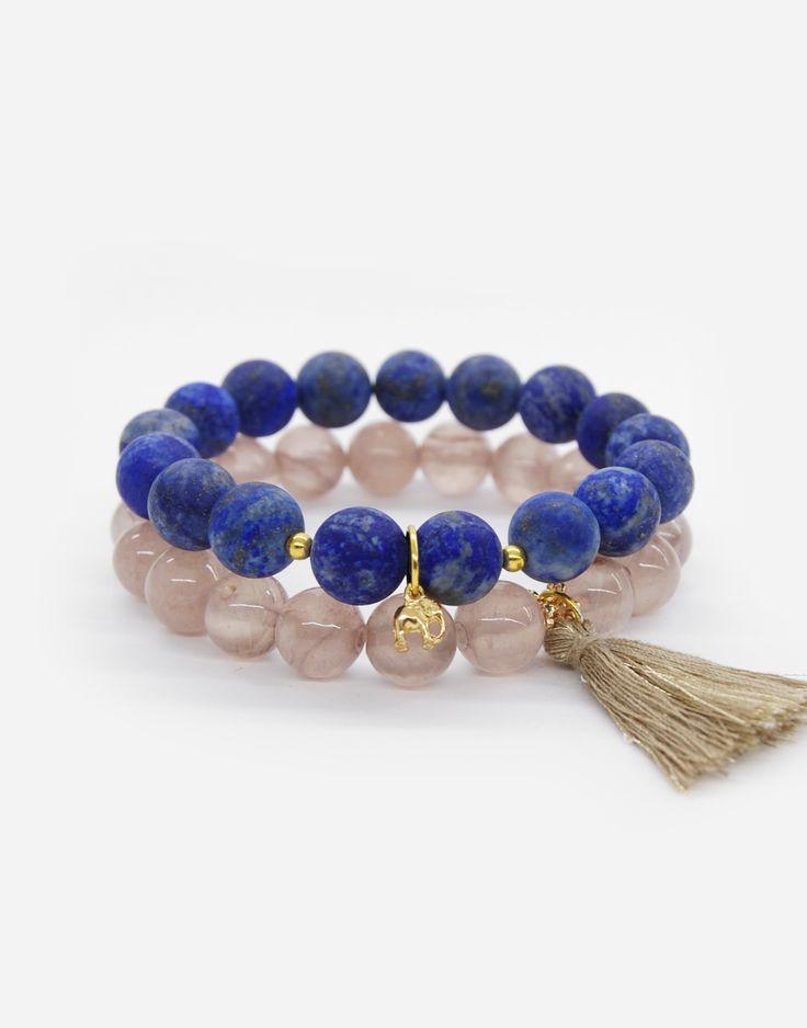 Bracelets / boho style / natural stone