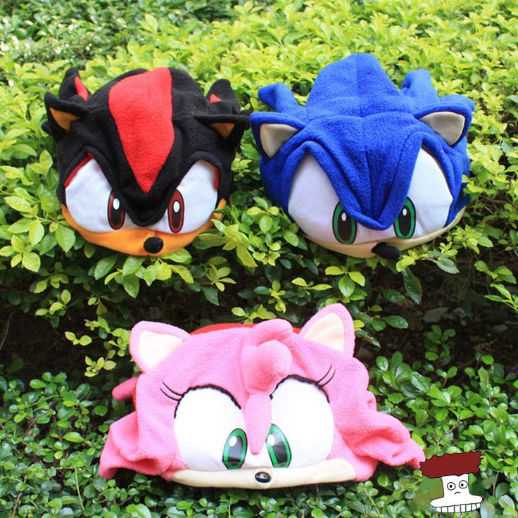 Anime Cartoon Sonic The Hedgehog Plush Hat Cosplay Cap Warm Winter Hat For Kids 3 Colors