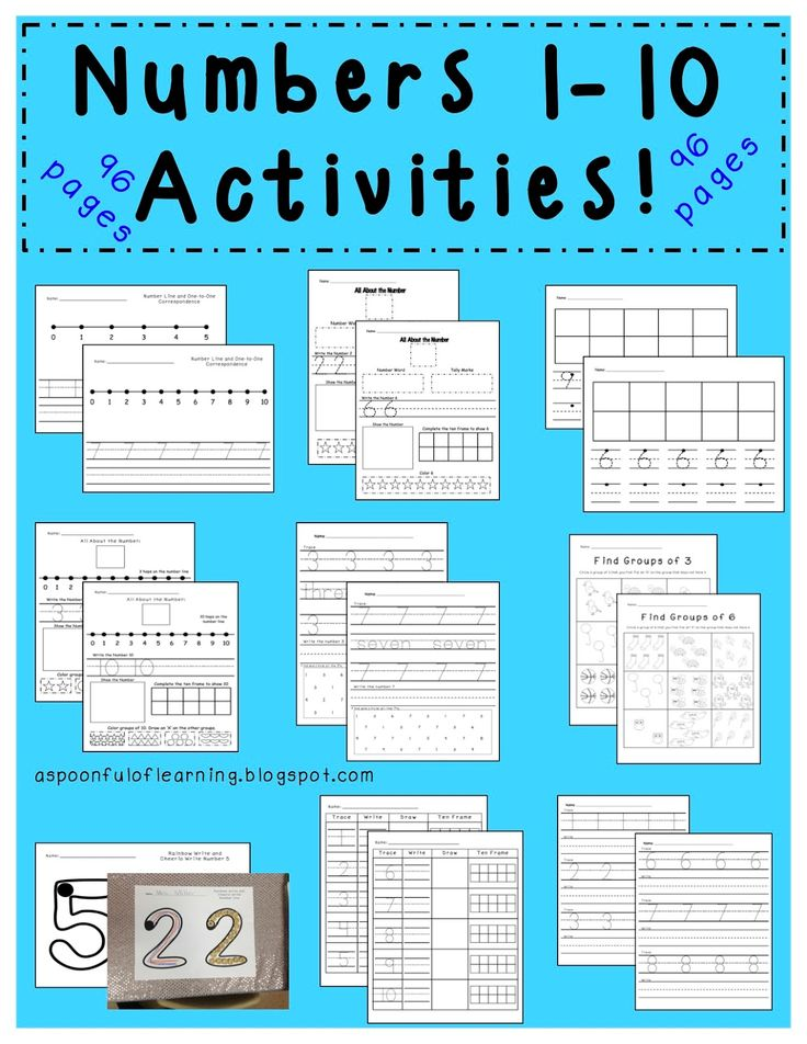 382 best LKG Number images on Pinterest | Learning, Preschool math ...