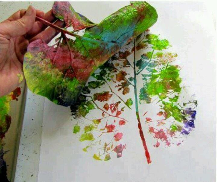 Leaf painting | Craft ideas | Pinterest