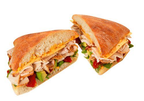 Chipotle Turkey and Avocado sandwich from Au Bon Pain. OMG.