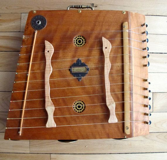 Tonebox, by Rootworks.Steampunk Hammered Dulcimer instrument.