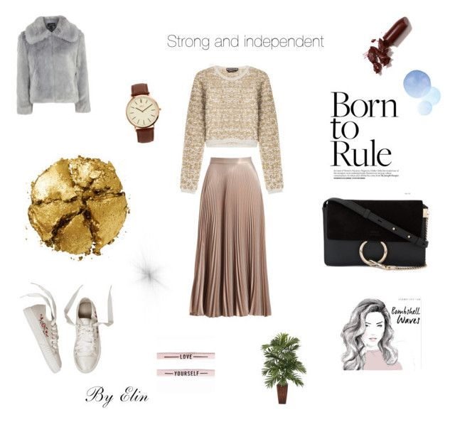 """""""Born to rule"""" by elinohrner on Polyvore featuring Rochas, A.L.C., Pat McGrath, LAQA & Co., Chloé, Topshop and BKE"""