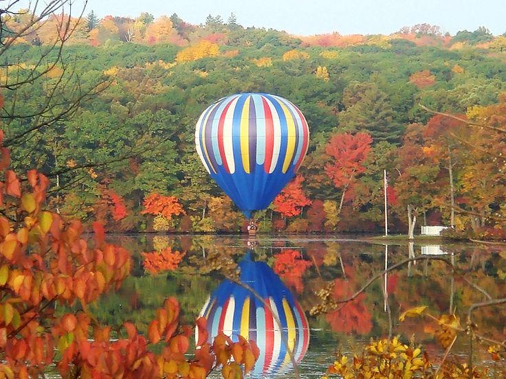 https://flic.kr/p/axjk8t | Fall Foliage Balloon Reflection