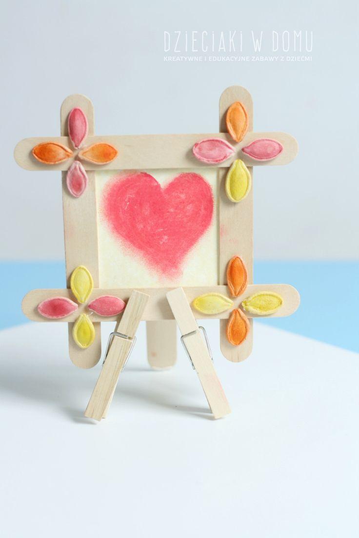 popsicle stick frame craft / ramka z kreatywnych patyczków