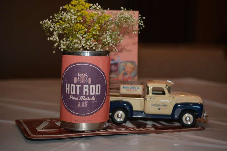 Vintage / Retro Car Party Centerpiece