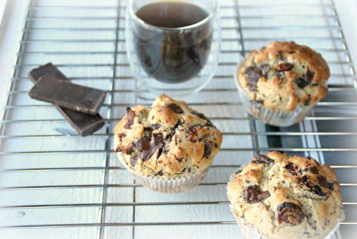 Yoghurtmuffins met havermout en chocoladestukjes - Truitjeroermeniet