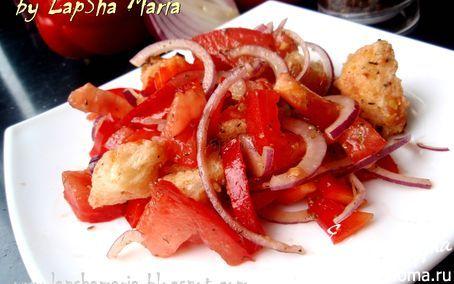 Панцанелла - классический итальянский салат с хлебом | Кулинарные рецепты от «Едим дома!»
