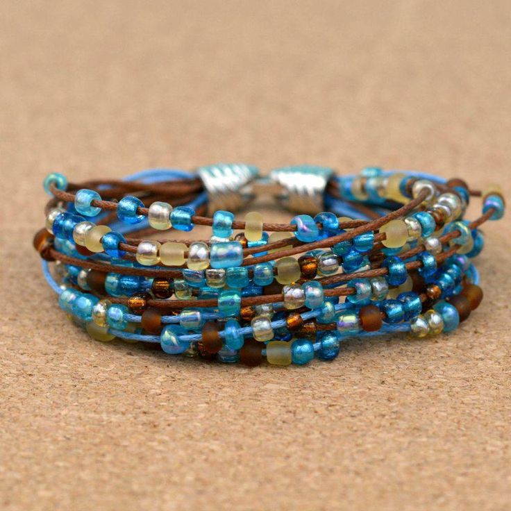 This boho-style beaded bracelet is as simple to make as cutting and using glue! …