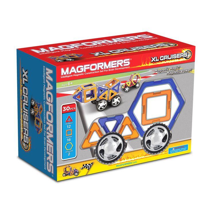 Magformers XL Cruisers Car Set: 30 Pcs