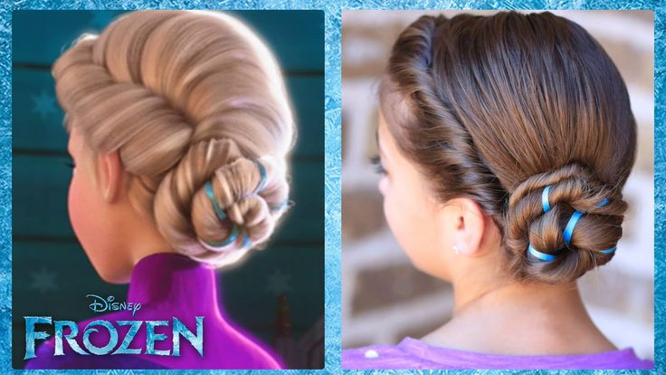 Frozen Inspired Elsa's Coronation Updo | A CuteGirlsHairstyles Disney Ex...