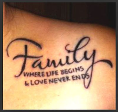 Family quote tattoos tattoos pinterest tattoo for Tattoo saying about family