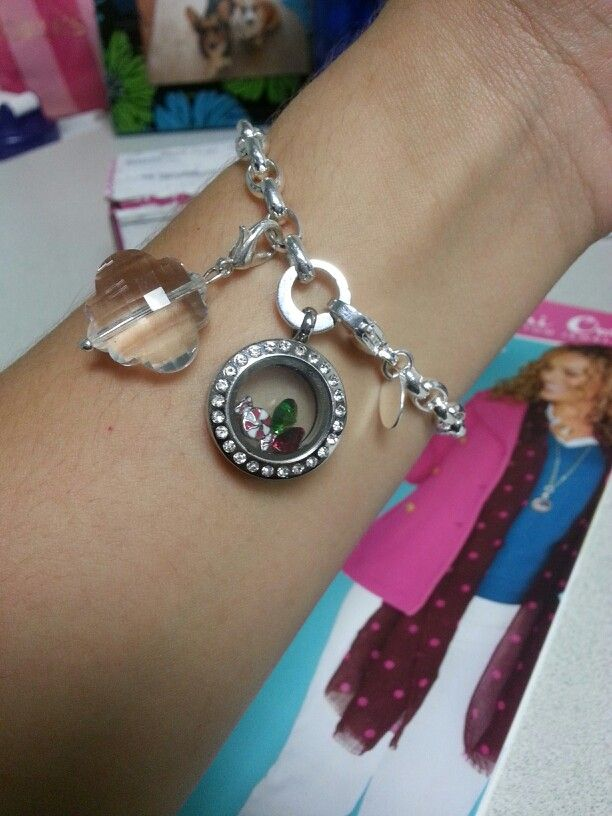 My Christmas Origami Owl bracelet!