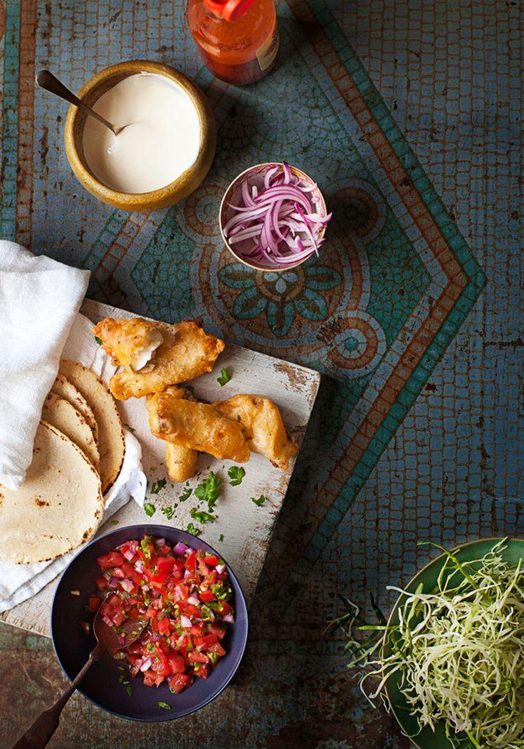 Ensenada Fish Tacos with Pancake Beer Batter Recipe