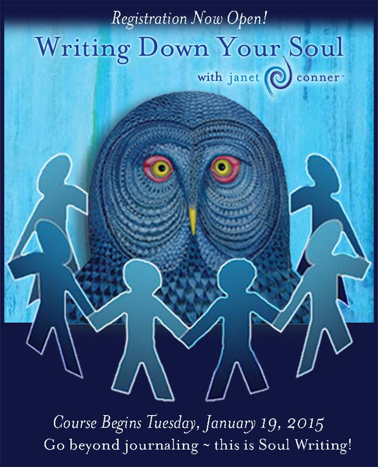 Janet's Writing Down Your Soul 2016 LIVE teleclass begins tomorrow evening!  Learn how to go beyond journaling, and experience the richness of Deep Soul Writing in your life!  www.janetconner.com