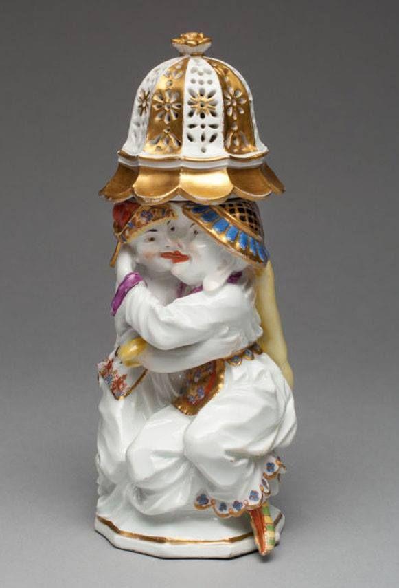 Zuccheriera della manifattura di Meissen (1737), conservata al  Chicago Institute of Art.