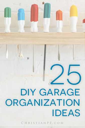 "25 #DIY #garage #organization ideas http://seedtime.com/diy-garage-organization-ideas/...Spring prompts overhauling of the house in an annual ""Spring Cleaning."" We take this a step further and implement the overhaul into the garage as well. I do not know how the garage collects so many things during the year. Decluttering and organizing is in order. It may take a bit of elbow grease, but in the end it's worth the overhaul... I promise you! When an area is decluttered and then..."