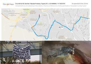 La rioja tijuana mapa de la desgracia, narco mantas coronan asesinatos secuestros y homicidios en la